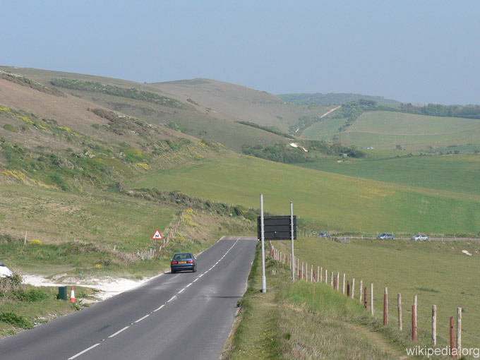 Route A3055, Road trip en Angleterre
