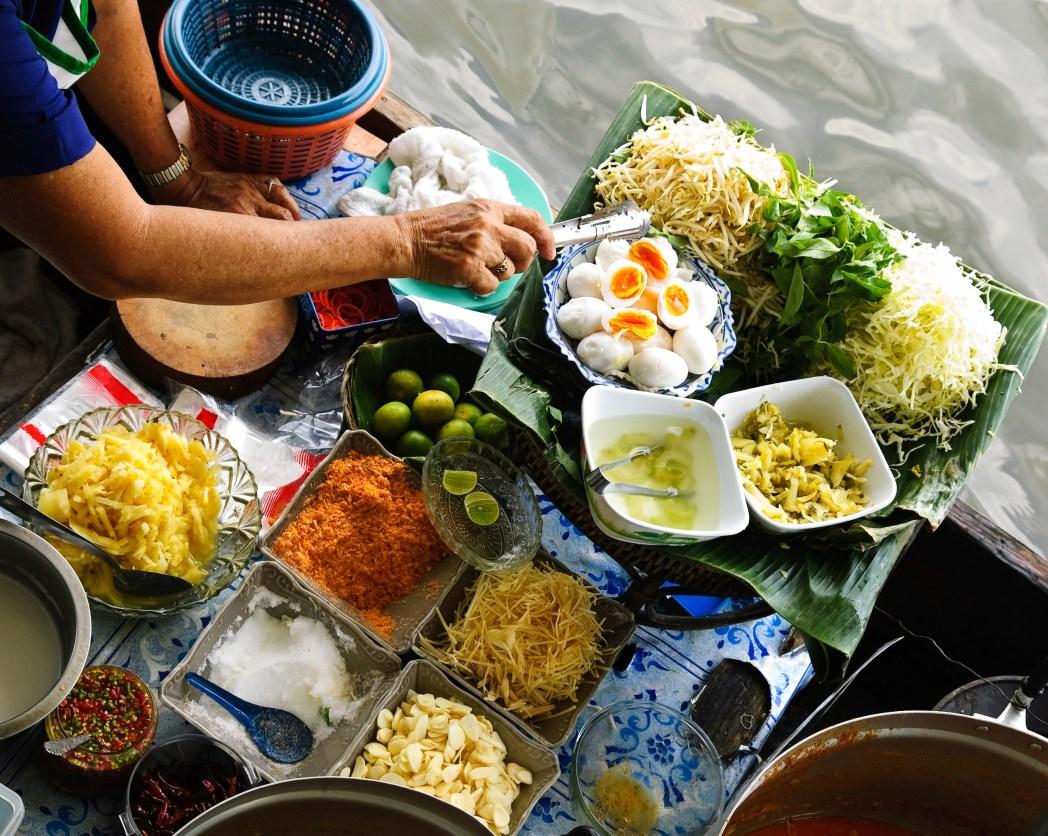 Marché flottant à Bangkok
