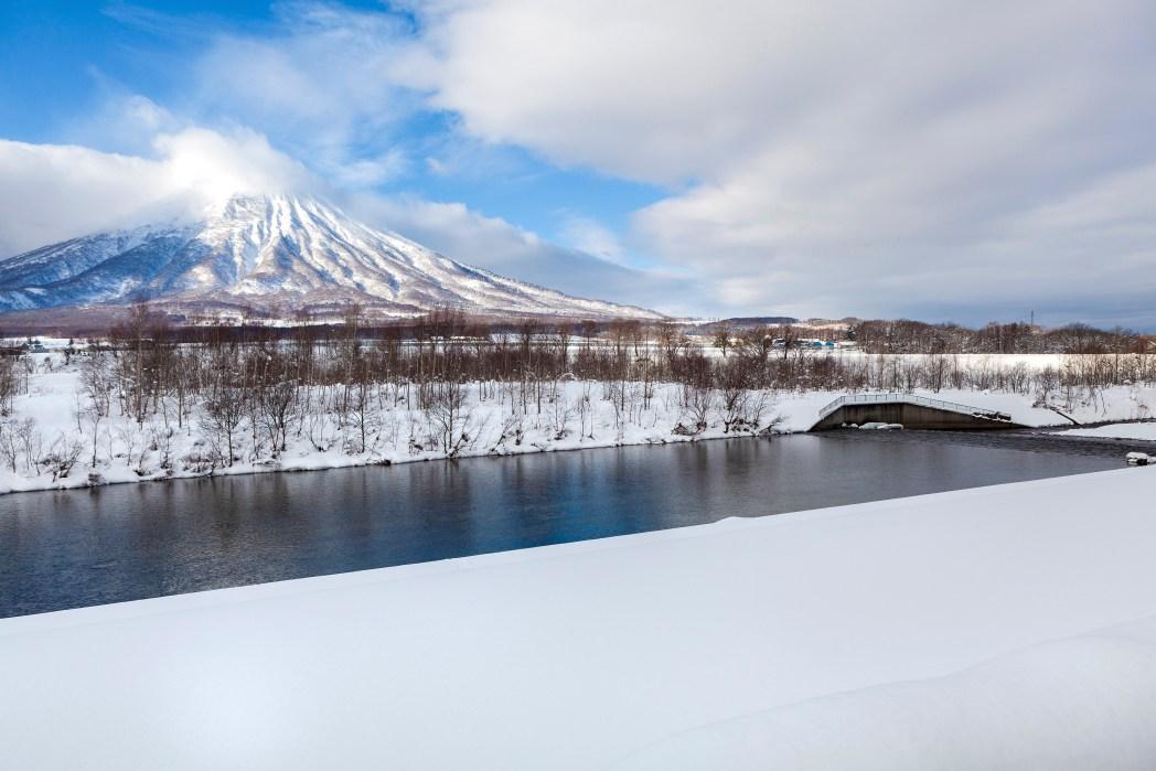 L'hiver au Japon sur le Mont Fuji