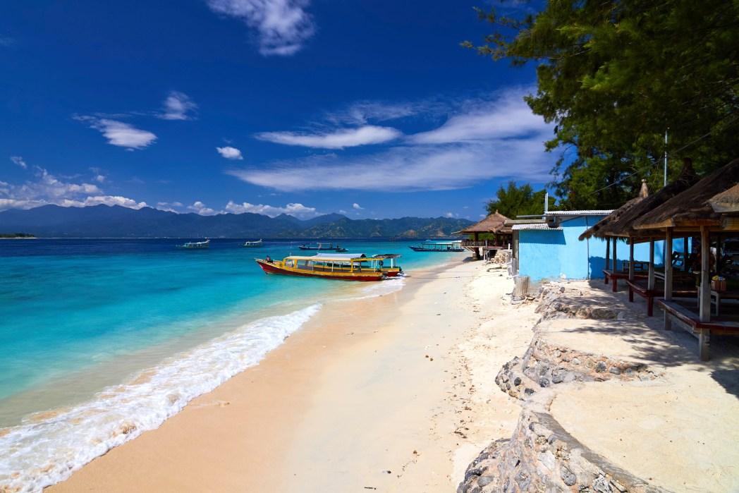 Vue sur une plage de reve a Bali