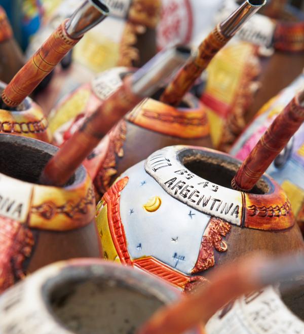 tasses traditionnelles de maté