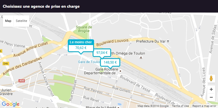 Location de voiture toulon gare