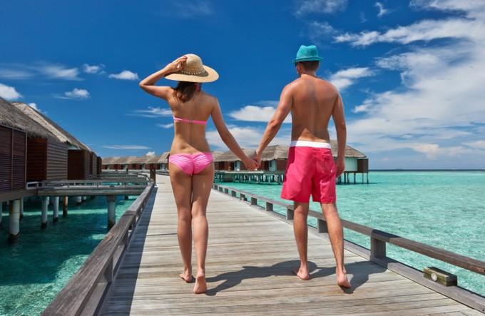 Couple aux Maldives