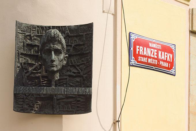 Plaque commémorative de Franz Kafka