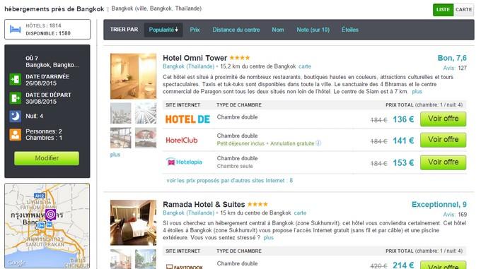 Hôtels à Bangkok
