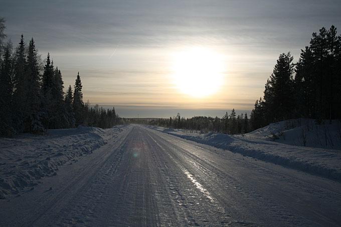 Route glacée, Kiruna