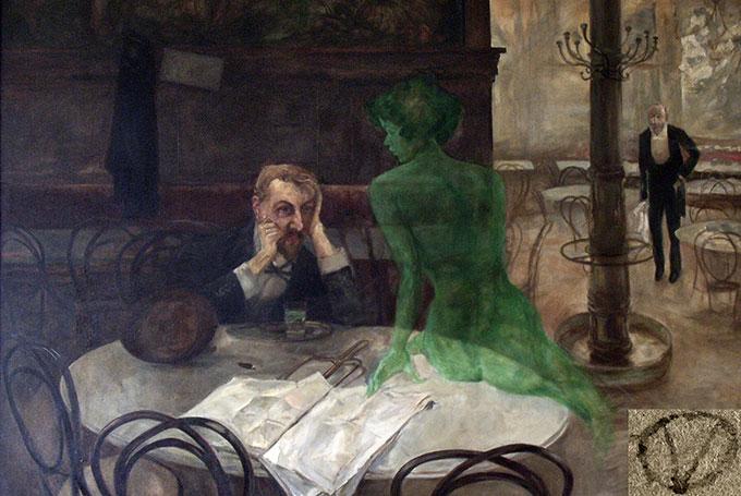 Le buveur d'Absinthe, de Viktor Oliva