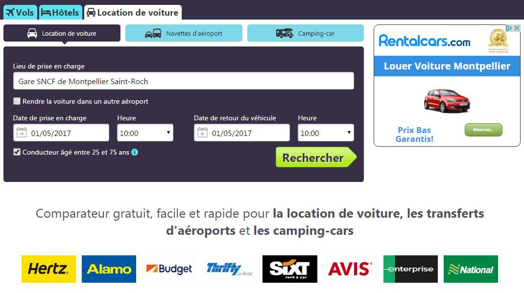 site comparateur location de voiture
