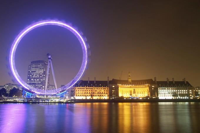 London Eye, la nuit