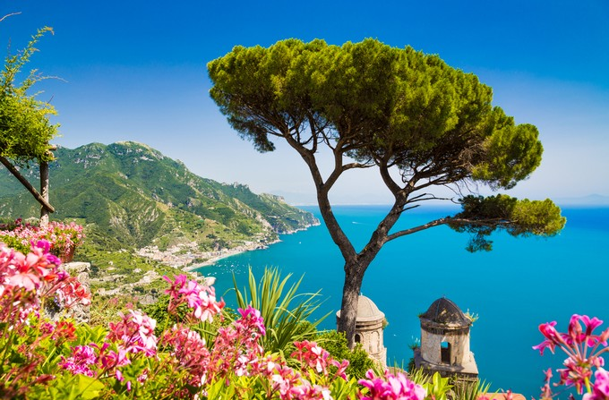 La côte Amalfitaine. Ravello, Italie