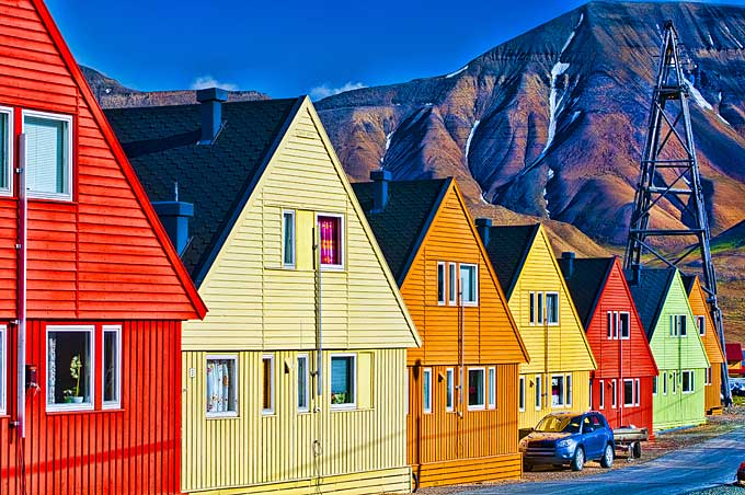 aurores boréales à Svalbard